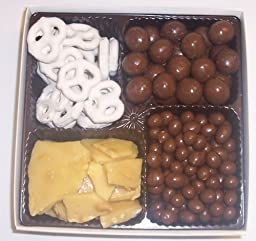Scott\'s Cakes Large 4-Pack Chocolate Malt Balls, Chocolate Peanuts, Peanut Brittle, & Yogurt Pretzels