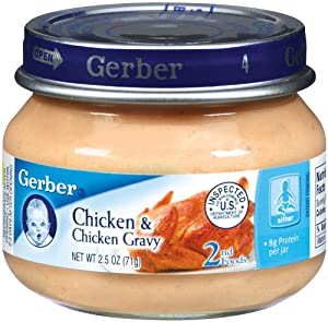 Gerber 2nd Foods Meats, Chicken & Chicken Gravy, 2.5-Ounce (Pack of 12)