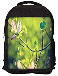 "Snoogg Dark Pink Flower Casual Laptop Backpak Fits All 15 - 15.6"" Inch Laptops"