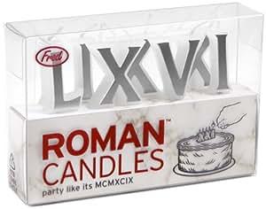 Amazon.com | Fred & Friends ROMAN CANDLES Roman Numeral