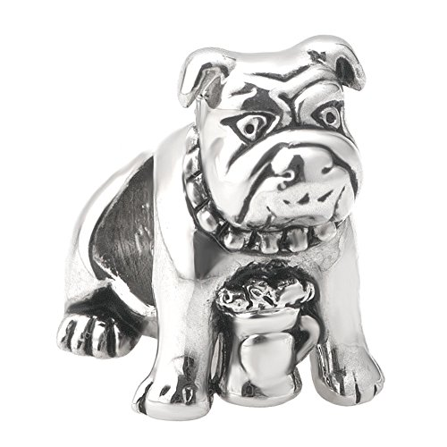 Bulldog Dog Pet Animal Charms Sale Cheap Jewelry Beads Fit Pandora Bracelet
