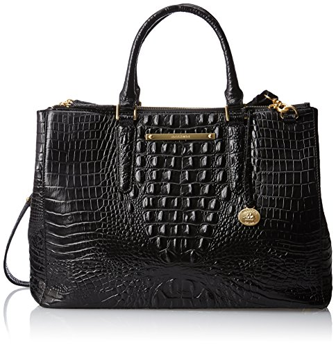 Brahmin Lincoln Satchel, Black, One Size