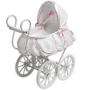 Pink Doll Stroller Buggy for American Girl's Bitty Baby: Toys & Games