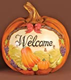 """8"""" Festive """"Welcome"""" Thanksgiving Pumpkin Table Top Decoration"""