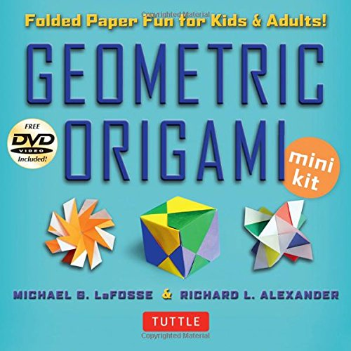 Geometric-Origami-Mini-Kit-Folded-Paper-Fun-for-Kids-Adults-Origami-Kit-with-Book-48-Papers-DVD
