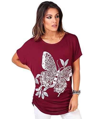 Camiseta de Mangas Murciélago y Mariposa