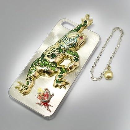 【inGod jewels】iPhone5ケース│林檎と河童 featuring 歌川国芳 (ストラップチェーン)