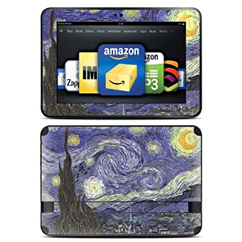 "Kindle Fire HD 8.9"" Skin Kit/Decal - Starry Night - Vincent Van Gogh"