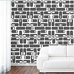 DeStudio Oval Square Tile Chalkboard Wall Decal, Size X Large & Color : BLACK