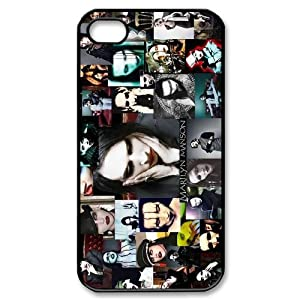 Custom Marilyn Manson Cover Case for iPhone 4 WX7925