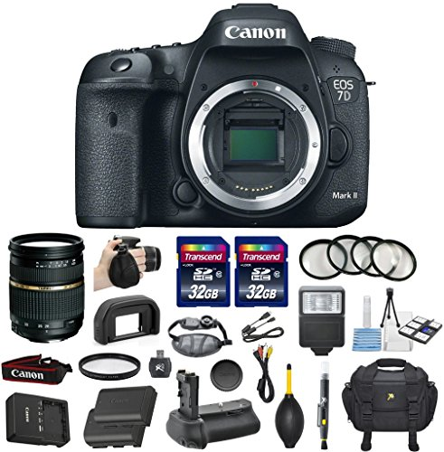Canon EOS 7D Mark II 20.2MP CMOS Digital SLR DSLR Camera Bundle with Tamron AF 28-75mm f/2.8 Autofocus Lens & 2 Pieces Transcend 32GB High Speed SDHC Memory Cards + Accessory Kit (16 items) (Canon 7d Mark Ii For Dummies compare prices)