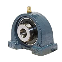 "FYH UCPA201-8 Pillow Block Mounted Bearing, 2 Bolt, 1/2"" Inside Diameter, Set screw Lock, Cast Iron, Inch"