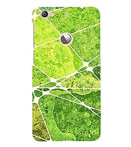 Green Square Pattern 3D Hard Polycarbonate Designer Back Case Cover for LeEco Le 1s :: LeEco Le 1s Eco :: LeTV 1S