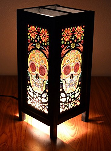 Decorative Lamp Thai Vintage Handmade Asian Oriental Fantasy Skull Bedside Table Light Floor Wood Paper Lamp Shades Home Bedroom Garden Decoration Modern Design By Copter Shop (Shoe Polish Timberland compare prices)