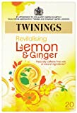 Twinings Revive and Revitalise Lemon & Ginger 20 Teabags (Pack of 8, 160 Teabags)