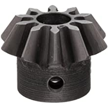 "Boston Gear HL147Y-P Bevel Pinion Gear, 2:1 Ratio, 0.188"" Bore, 20 Pitch, 10 Teeth, 20 Degree Pressure Angle, Straight Bevel, Steel with Case-Hardened Teeth"