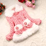 Baby Pelzmantel Mantel Jacke Fish Scale Outwear Kleidung (# 12 fit für 6-7 Jahre, tief rosa)