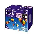 三菱化学メディア BLU-RAY DISK 25GB 録画用 4倍速 片面1層追記型 20枚スリムケース入 印刷可能 VBR130YP20
