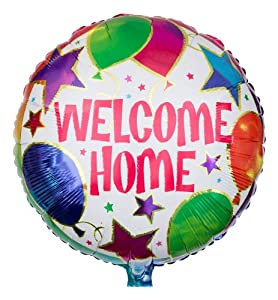 ballongruesse folienballon welcome home 45cm gasgef llt im karton tolles willkommensgeschenk. Black Bedroom Furniture Sets. Home Design Ideas