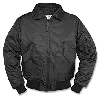 Mil-Tec Teesar Men's US CWU Flight Jacket Black size S