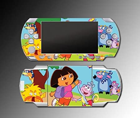 Dora the Explorer Boots Backpack game Vinyl Decal Skin Protector Cover for Sony PSP 1000 Playstation Portable
