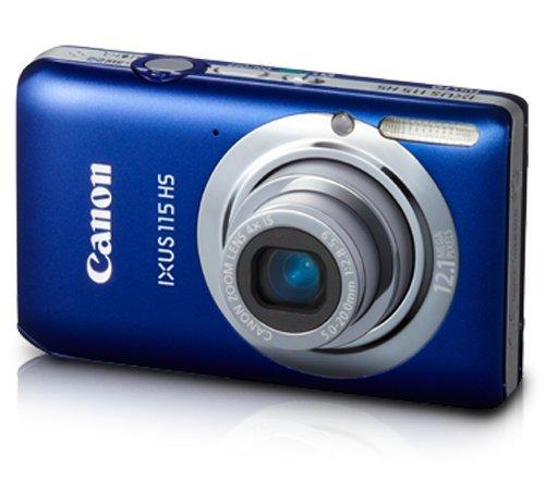 Canon IXUS 115 HS Digital Camera - Blue (12.1MP, 4x Optical Zoom) 3.0 inch LCD