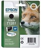 Epson Patrone für Epson T1281, (1x Black Schwarz) Druckerpatrone für T 1281