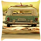Snoogg Vintage Toy Digitally Printed Cushion Cover throw pillows 14 x 14 Inch