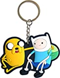 アドベンチャータイム キャラクター キーホルダー (Finn & Jake) / Adventure Time フィン ジェイク アニメ キーリング [並行輸入品]