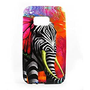 AVC Graphik Zelephant Soft TPU Back Case Cover for HTC One M9 Mobile Cell Phone (Multicolor)
