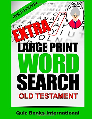 Extra Large Print Word Search Bible Edition - Old Testament