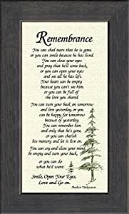 Wedding Gift Poem For Home Improvements : Amazon.comRemembrance Poem for Male Sympathy Poem Framed Gift for ...