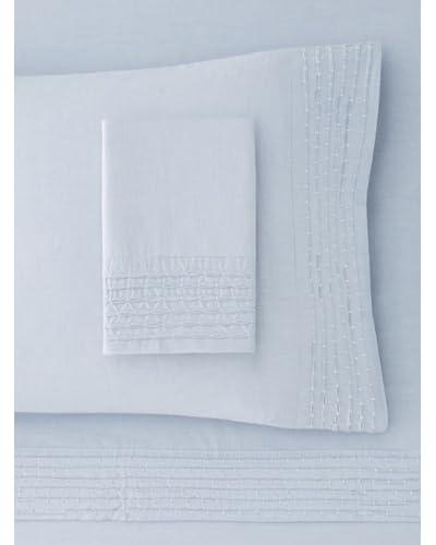 Belle Epoque Pintuck Chambray Sheet Set  - Blue