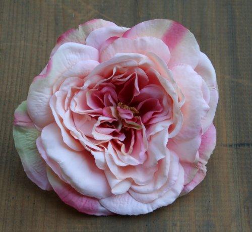 Haarblume Ansteckblume Haarblüte Haarschmuck Rose Ansteckblüte Hochzeit (rosa #008)
