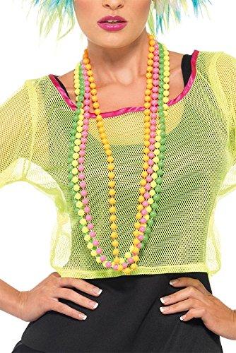 Smiffy's Women's Beads Fluorescent 4 Strands