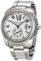 Cartier Men's W7100015 Calibre de Cartier Silver Opaline Dial Watch from Cartier