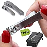 TrimKlip- Deluxe Prime Quality Stainless Steel Nail Clipper Set For Men, Women And Children- Super Sharp Blades...