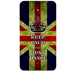 Skin4gadgets Keep Calm and JUST DANCE - Colour - UK Flag Phone Skin for NOKIA LUMIA 1320