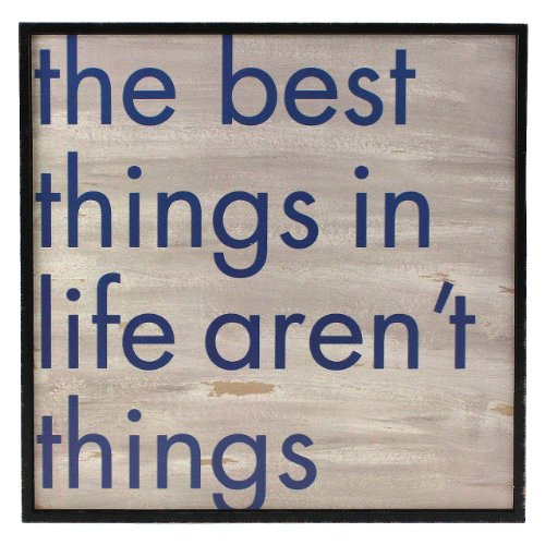 Fetco Home Decor Stefan The Best Things in Life Aren't Things Wall Art