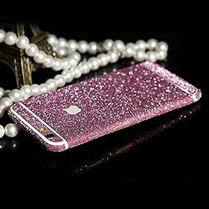 WeShop® - Bling Bling avant et arrière Protector Stickers Pour iPhone6 4,7 pouces Rose