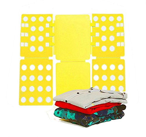 LUOYIMAN T-shirts Folding Board  Portable Plastic Magic Fast Clothes Folder Non-slip(Yellow) (Space Saving Ironing Mat compare prices)