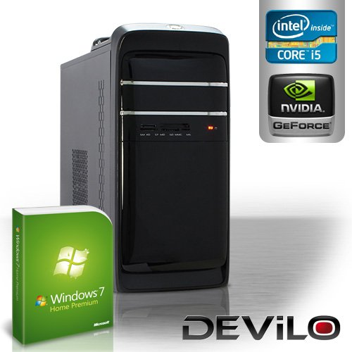 DEViLO PC 1232 - Intel Core i5-3550 Quadcore 4x 3300MHz (Turbo bis 3700MHz) | 8GB DDR3-1333 | 1000 GB SATA2 | nVidia Geforce GT630, 2048MB GDDR3, HDMI, DVI (FullHD+Bluray3D) | 22xDVD-RW | ASUS P8B75-M LX | USB3.0 | 6-Kanal-Sound | Gigabit-LAN | 420W | Microsoft Windows 7 Home Premium 64-Bit