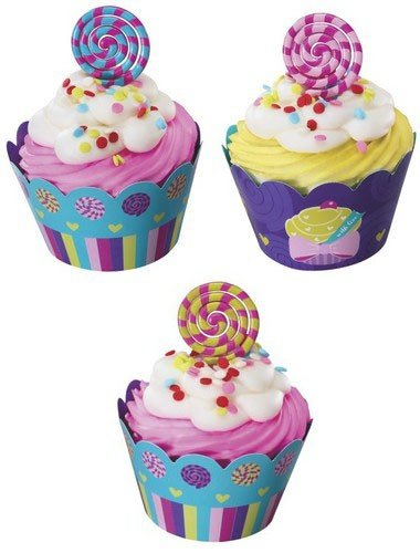 1 X Sweet Candy Cupcake Wraps (24-Pack)