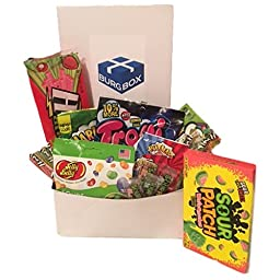 Sour Candy Set Featuring 18pcs (over 1 pound) of Warheads Extreme, Jelly Belly, Sour Patch, Sour Punch, Trolli and Skittles
