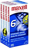 Maxell 214049 STD-T-120 Video VHS, 4 Pack (Discontinued by Manufacturer)