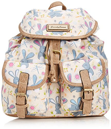 Tiny Love - Romeo Rabbit Print Classic Backpack Bag, Zaino da donna, beige (beige), One size