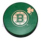 Boston Bruins Green St. Patricks Day Irish Bruins Logo Hockey Puck