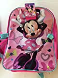 Disney Minnie Mouse Large Backpack Girl's Licensed Book Bag Detachable Insulated Lunch Box Back to School Supplies Scissors Glue Folder Pencils Eraser Markers Crayons Glue Sticks Notebook Paper