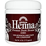 RAINBOW RESEARCH Dark Brown Henna - 4 oz.