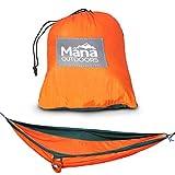 MANA OUTDOORS Super Light-Weight Camping Hammock - Double - Orange